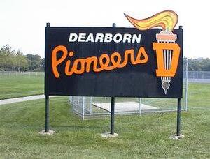 Dearborn High School - Image: Dearborn High School Pioneers sign