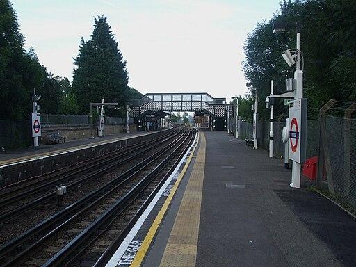 Debden station look eastbound