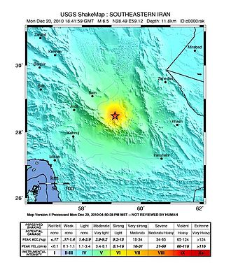 2010 Hosseinabad earthquake - USGS ShakeMap for the event