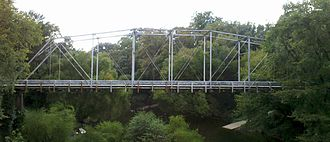 National Register of Historic Places listings in Chatham County, North Carolina - Image: Deep River Camelback Bridge, Aug 2012