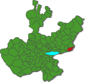 Location athin the state o Jalisco