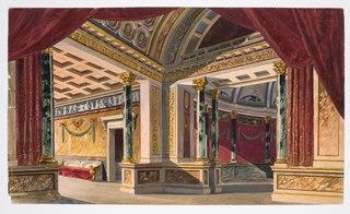 Dekorationsskiss av Carl Grabow