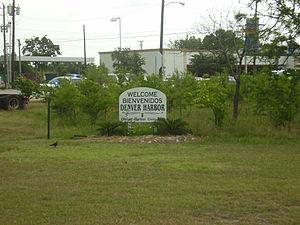 Denver Harbor, Houston - Denver Harbor entrance sign