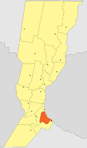 Location of Rosario Department within Sante Fe Province
