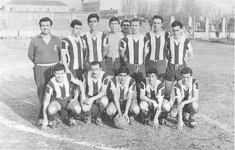 Deportivo Merlo - One of the first Deportivo Merlo squads, in the 1950s.