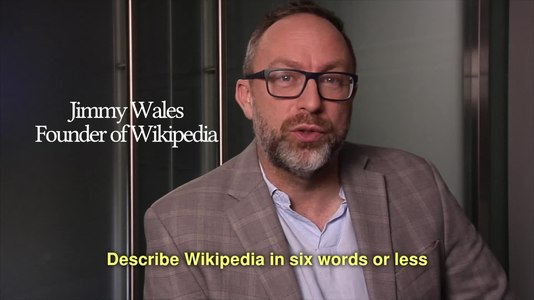File:Describe Wikipedia in 6 words or less.webm