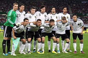 German national football team against Austria ...