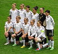 The German women's national team in 2012