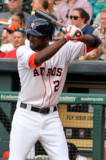 Dexter Fowler with Astros in April 2014.jpg