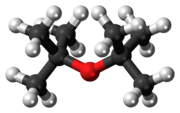 Ball-and-stick model of the di-tert-butyl ether molecule
