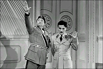 The Great Dictator - Chaplin with Jack Oakie as Benzino Napaloni