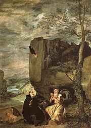 Аббат Св.Антоний и отшельник Св.Павел. 1635-38. Холст, масло.