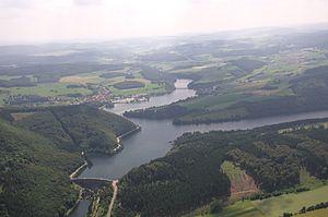 Diemelsee (municipality) - Aerial photo of Diemelsee 2013