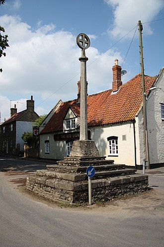 Digby, Lincolnshire - Image: Digby Cross geograph.org.uk 1278309