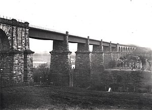 Dinting Viaduct - Image: Dinting Viaduct, Derbyshire 1903