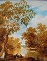 Dirck van der Lisse - A river landscape with bathing figures.jpg