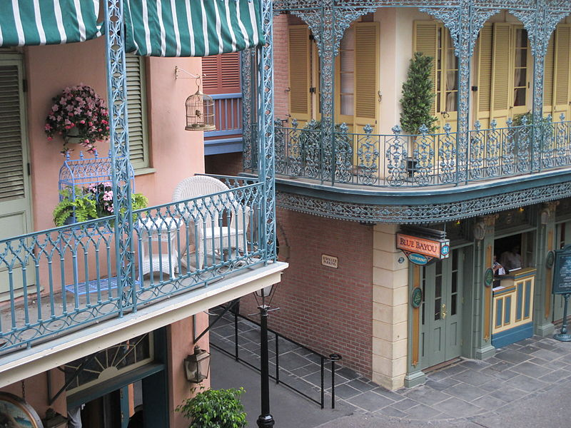 File:Disneyland New Orleans Square From Balcony 2013.JPG