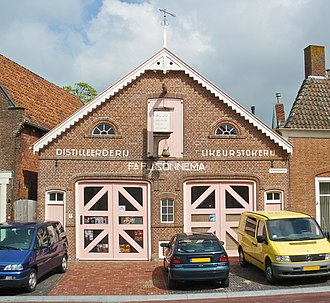 Beerenburg - Old building of the distillery F.J. Sonnema in Dokkum