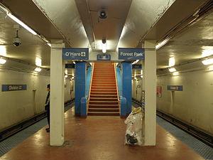 Division station (CTA Blue Line) - Image: Division Street station, CTA Blue Line