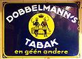 Dobbelmanns Tabak emaille reclamebord.JPG