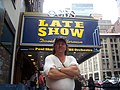 Doug Pruden outside Ed Sullivan theater in New York city 100 3066.JPG