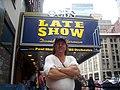 Doug Pruden outside Ed Sullivan theater in New York city 100 3066.JPG