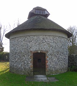 Dovecote at Hangleton Manor Inn, Hangleton (NHLE Code 1298635).JPG