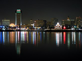 Downtown Long Beach - Downtown Long Beach as seen from the dock of Queen Mary.