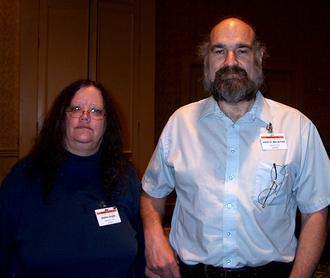 James D. Macdonald - Jim Macdonald and Debra Doyle at Readercon