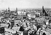 A view from the town hall over the Altstadt (old town), 1910.