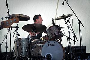 Hoodoo Gurus - Drummer Mark Kingsmill with Hoodoo Gurus