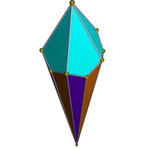 Pentagonal cupola - Image: Dual pentagonal cupola