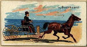 Buckboard - Duke's cigarettes advertising insert card, 1850-1920