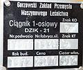 Dzik 21 - tabliczka znamionowa - Muzeum Motoryzacji Topacz.jpg