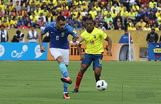 Renato Augusto - Renato Augusto playing for Brazil in 2016