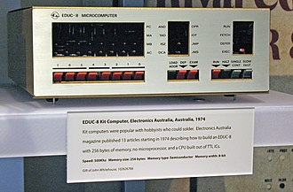EDUC-8 - EDUC-8 Microcomputer on display at the Computer History Museum.
