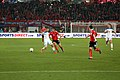 EM-Qualifikationsspiel Österreich-Russland 2014-11-15 043 Martin Harnik Viktor Fayzulin Oleg Shatov Denis Cheryshev.jpg