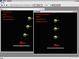 Earthquake simulation - PrintScreen images of concurrent computer models animation
