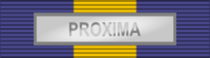 International decoration - Image: ESDP Medal PROXIMA ribbon bar