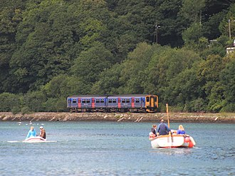 Looe Valley Line - Image: East Looe River FGW 150248