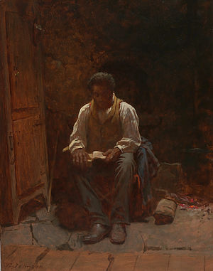 """Psalm 23 - Eastman Johnson's 1863 painting """"The Lord is My Shepherd""""."""
