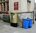 Ed McKeever's gold postbox in Bradford on Avon, Wiltshire (4).jpg