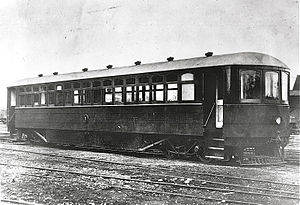 Edison storage battery New Zealand Railways railcar RM-6 in 1926.jpg