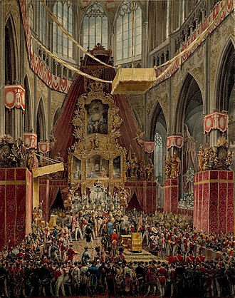 Ferdinand I of Austria - Coronation of King Ferdinand V in 1836 in Prague