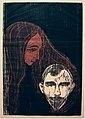 Edvard Munch. Man's Head in Woman's Hair (Mannshode i Kvinnehår). 1896 (24444920464).jpg