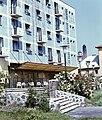Eger, Klapka György utca, a Park Szálló belső udvara. Fortepan 20976.jpg