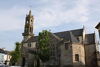 Edern, Finistère - The church in Edern