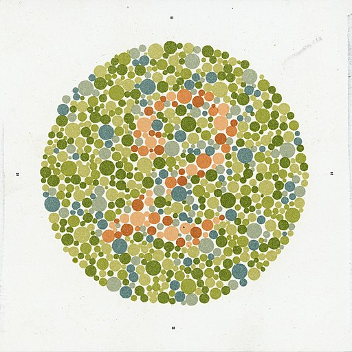 Eight Ishihara charts for testing colour blindness, Europe Wellcome L0059159