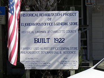 El Jobean Post Office and General Store sign.jpg