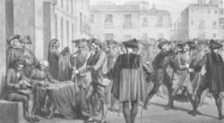 La resistencia al bando que prohibía llevar capa larga y sombrero ancho acabó en el motín de Esquilache (1766).